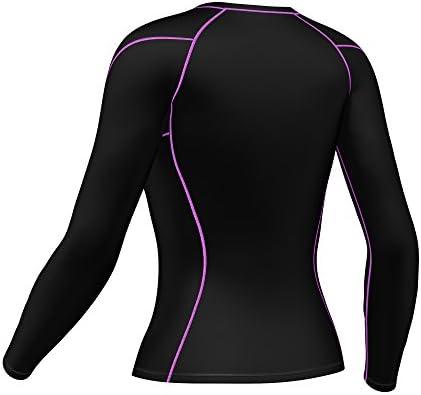 da donna set leggings e maglia a compressione FDX