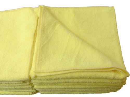 Eurow Microfiber DeLuxe 16in x 16in 325 GSM Cleaning Towels 24-Pack