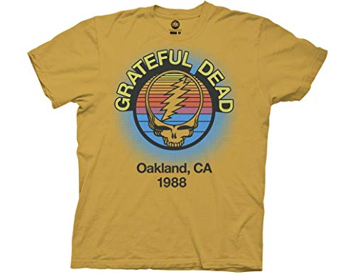 eful Dead Adult Unisex Oakland 88 Light Weight 100% Cotton Crew T-Shirt XL Ginger ()