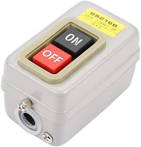 BS216B Motor Ein/Aus-Schalter 3P selbstsperrender Druckschalter 110/220 / 380V 10A