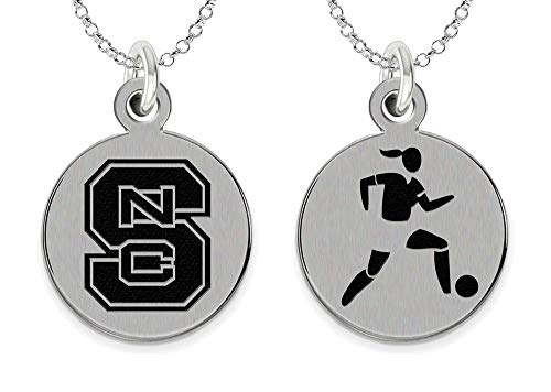 (College Jewelry North Carolina State University Wolfpack Women's Soccer Charm Necklace)