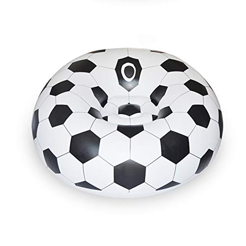 YueYueZou® Soccer Ball Bean Bag Chair, Inflatable Sofa for Adults, ()