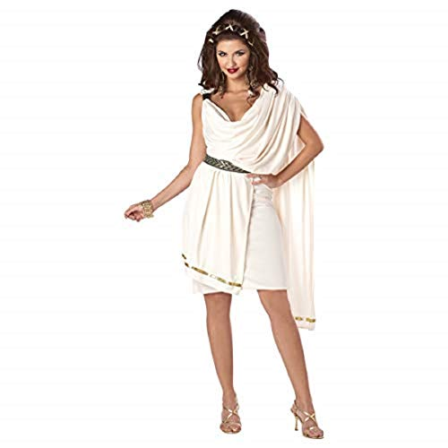 California Costume Collections Cc01683 Womens Deluxe Classic Toga Adult, White, -