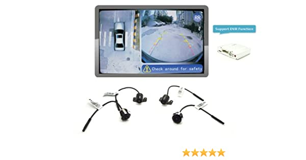 Amazon Com Iparaailury 360 Around View Parking Assist Universal For
