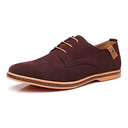 Marrón Hombre con Planos Cordones AARDIMI Zapatos qa0S1w66