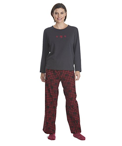 Woolrich Women's Flannel Jacquard Pajama Set, BUFFALO SNO...
