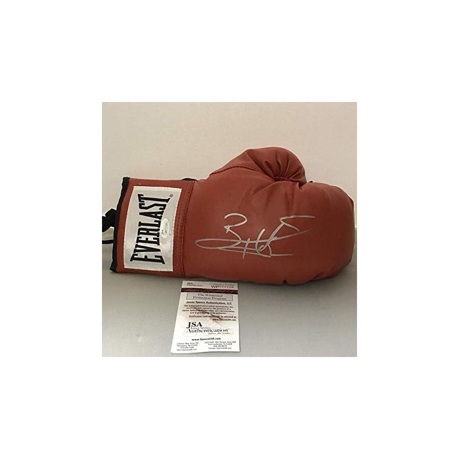 Autographed/Signed Bernard Hopkins Red Everlast Boxing Glove JSA COA Auto