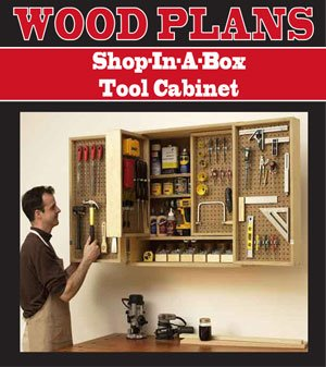 Shop-in-a-box Tool Cabinet Woodworking Paper Plan Pw10081 by Peachtree Woodworking