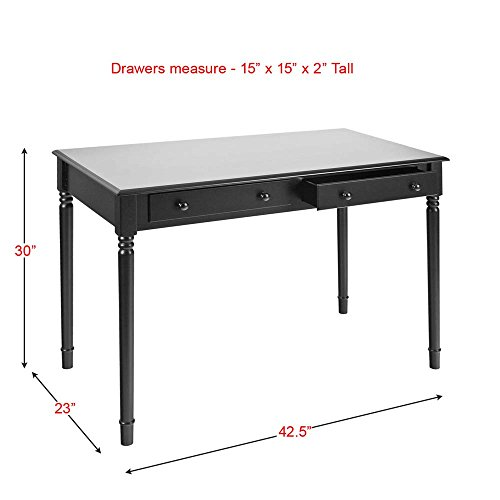 Holly U0026 Martin Parker 2 Drawer Writing Desk In Satin Black
