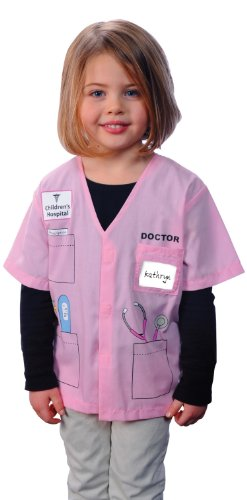 Aeromax My 1st Career Gear Dr. (Pink), Easy to put on shirt fits most ages 3 to 6 (Nurse Costume For Kids)