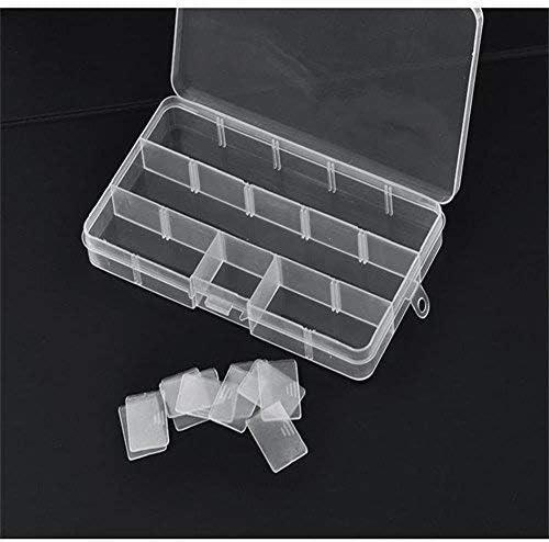 VanseRun Lot de 5 PCS Bo/îte De Rangement Plastique Bijoux Outils Ajustable /à Usages Multiples R/écipient,15 compartiment