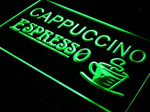 Cappuccino Espresso Coffee Cafe LED Sign Neon Light Sign Display i317-g(c) -