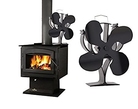 Amazon.com: VODA - Ventilador para estufa de 4 aspas ...