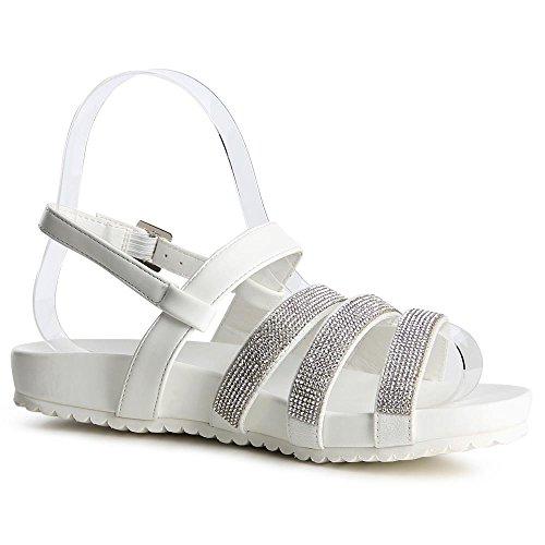 topschuhe24 - Sandalias de vestir para mujer blanco