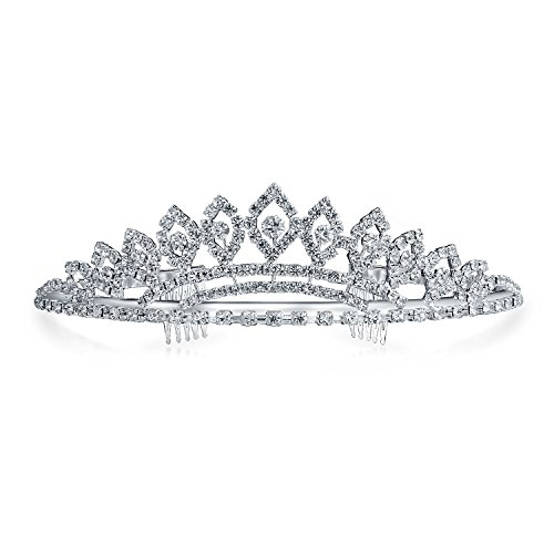 Prom Homecoming Queen Rhinestone Bridal Tiara Silver ()
