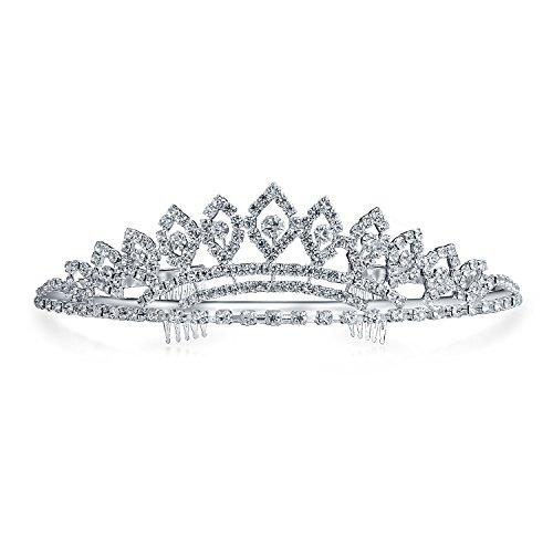 (Prom Homecoming Queen Rhinestone Bridal Tiara Silver)