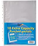 Tiger 10 x A4 Extra Capacity SINGLE Large Punched Pockets