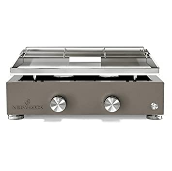 Plancha Gas Acero Inoxidable 2 Fuegos Simplicity: Amazon.es ...