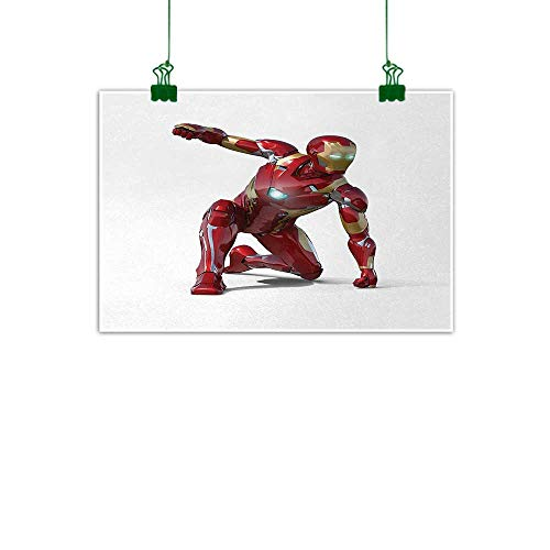 Warm Family Superhero Modern Frameless Painting Robot Transformer Hero with Superpower in Costume Cyber Man Fun Character Print Bedroom Bedside Painting 47