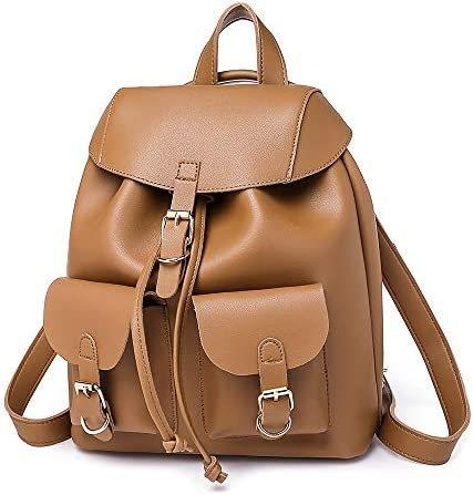 ヨーロッパとアメリカのファッションハンドバッグ、PUレザーレディースバックパック、33 * 26 * 15 cm、ブラウン、ソーイングラインアマゾンエクスプロージョンバックパック、 実用的