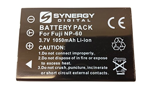 Fuji Np 60 Replacement (SDNP60 Lithium-Ion Battery - Rechargeable Ultra High Capacity (3.7V 1050 mAh) - Replacement for Fuji NP-60, Pentax D-L12, Kodak KLIC-5000, Samsung SLB-1037 Batteries For Fujifilm FinePix 50I, 601, F401, F601, F602, M603, Pentax Optio 330RS, Optio 430, O)