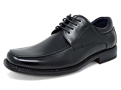 Bruno Marc Men's Goldman-01 Black Leather Lined Square Toe Dress Oxfords Shoes - 6.5 M US