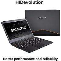 HIDevolution Gigabyte Aero 14Kv7 Black 14 inch Gaming Laptop | 2.8 GHz i7-7700HQ, 16GB DDR4 RAM, GTX 1050Ti 4GB, PCIe 512GB SSD | Authorized Performance Upgrades & Warranty