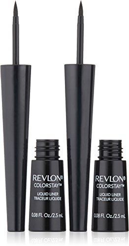 (Revlon ColorStay Liquid Liner Twin Pack, Blackest Black, 0.08 Fluid Ounce)