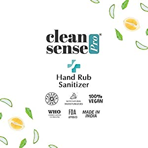 Cleansense Pro Hand Rub Sanitizer with Goodness of Neem & Aloevera, Liquid Based, 80% Alcohol, 500ml
