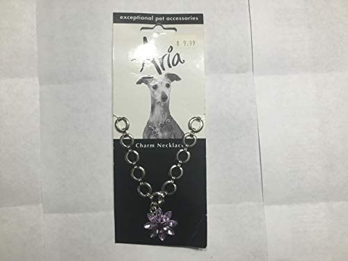 Aria Charm Necklace Vivacios Violet Flower