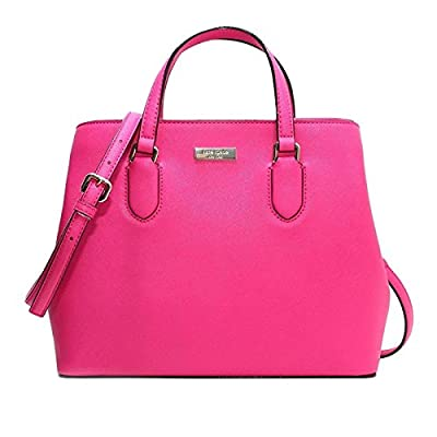 Kate Spade Evangelie Laurel Way Safiano Leather Peony Pink Satchel Crossbody Top Handle Handbag