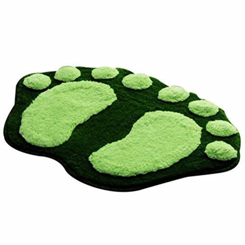 Badematten Set Clode® Weiche Füße Memory Foam Bad Bad Schlafzimmer Boden Dusche Mat Teppich (Grün)