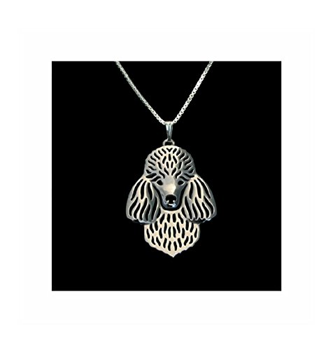 Poodle Jewelry (Poodle Necklace Silver-Tone)