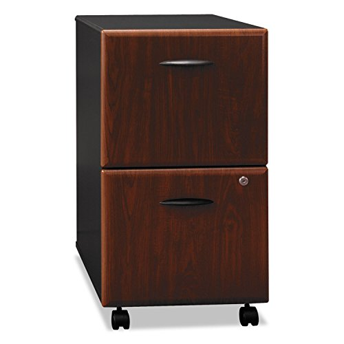 bbf Series A Two Drawer Pedestal - 15.5quot; Width x 20.3quot; Depth x 28.2quot; Height - 2 - Pressboard, Melamine, Polyvinyl Chloride (PVC) - Dark Cherry, Hansen Cherry, Slate