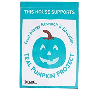 SCS Direct Halloween Teal Pumpkin Garden Flag for Allergy Awareness - 12 x 18 in Officially Licensed (Pole NOT Included)
