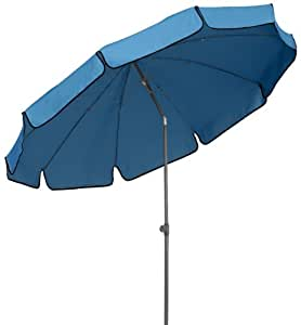 Schneider 182 61 sombrilla libra 250 cm redondo azul for Sombrillas jardin amazon