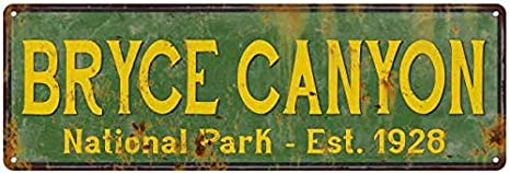 Bryce Canyon National Park Rustic Metal Sign Cabin Wall Decor 106180057033