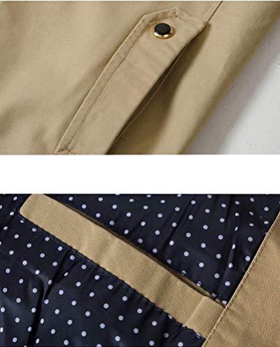 Causal Coton Fermeture Jacket Éclair Leeharu Veste Marron Blazer Claire Homme 6TnqxxIwE