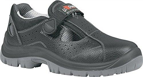 Secuclas–Sandali di sicurezza EN ISO 20345S1P SRC Alligator taglia 44pelle bovina colore: nero