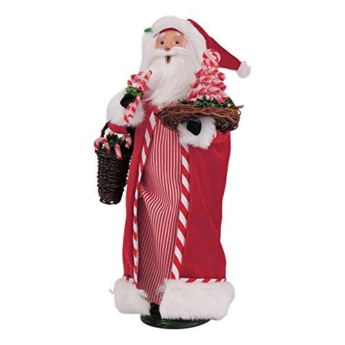 Byers' Choice Candy Cane Santa Claus #3163