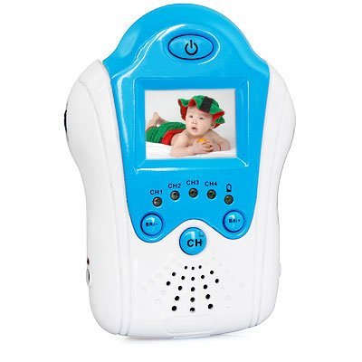 Baby Moniter Kit Consist Blue 2.4G 6 LED IR Day and Night 1/3 Inch Wireless CMOS Video and Audio(8003)