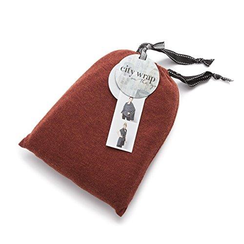 Demdaco Women's City Wrap Multi-Use Wrap Scarf Sweater, Paprika