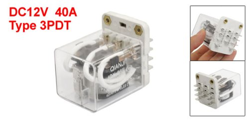 Warranty 1 Years Taiss//JQX-38F 3Z DC 24V Coil 11 Pin 40A 3PDT 3NO 3NC Electromagnetic Relay General Purpose Power Relay with Plug-in Terminal Socket Base LJQX-38FC//3Z DC24V