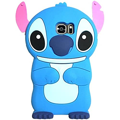 Samsung Galaxy S7 Edge Case, MC Fashion Cute 3D American Cartoon Characters Stitch Protective Silicone Phone Case Sales