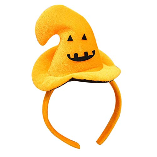 Party Hats - Cute Halloween Head Band Skull Smile Spider Bat Hairband Pumpkin Hat Kids Children Witch - Hora Boy New Dogs Large Pastel Gold Thanksgiving Multi Dino ()