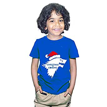 FMstyles Game of Thrones Christmas is Coming Kids Unisex Navy Blue Tshirt FMS367