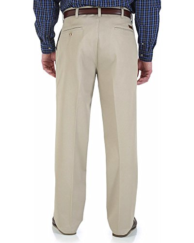 Wrangler Rugged Wear Men's Relaxed Fit Casual Pant with Teflon Coating,Khaki,46x32
