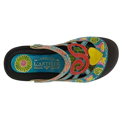 Lartiste By Spring Step Womens Bombay Clog Turquoise