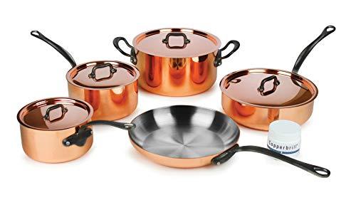 (Mauviel M'heritage M150C2 9-piece Copper Cookware Set)