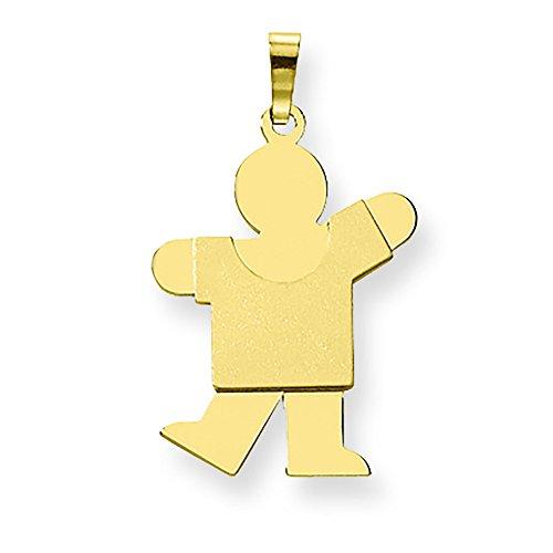 14K Yellow Gold Engravable Boy